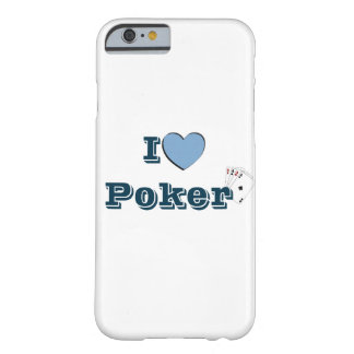Coque Barely There iPhone 6 I Love Poker