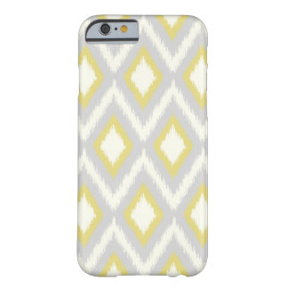 Coque Barely There iPhone 6 Ikat tribal gris et jaune Chevron