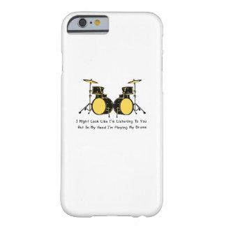 Coque Barely There iPhone 6 Je joue ma musique de batteur de tambours