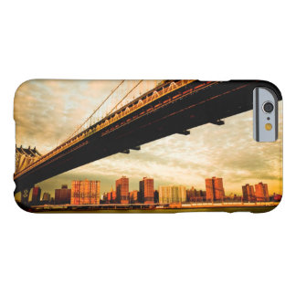 Coque Barely There iPhone 6 La vue de pont de Manhattan du côté de Brooklyn