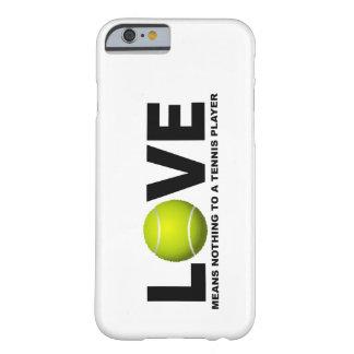 Coque Barely There iPhone 6 L'amour ne signifie rien à un iPhone de joueur de