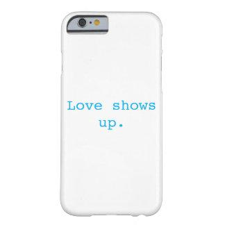 Coque Barely There iPhone 6 L'amour révèle le cas de téléphone