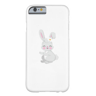Coque Barely There iPhone 6 Le cadeau mignon de Pâques de visage de lapin