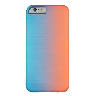 Coque Barely There iPhone 6 Le doux a modifié la tonalité le bleu orange