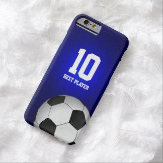 Coque Barely There iPhone 6 Le meilleur joueur du fan de foot | aucun