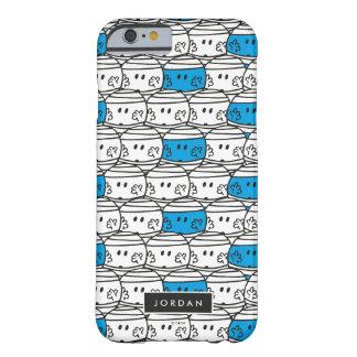 Coque Barely There iPhone 6 Le motif bleu   de M. Bump   ajoutent votre nom