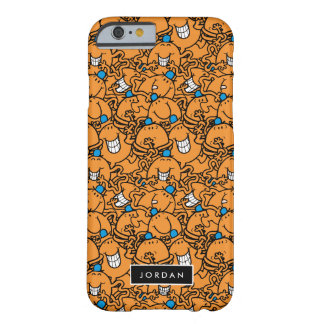 Coque Barely There iPhone 6 Le motif orange | de chatouillement de M. Tickle |