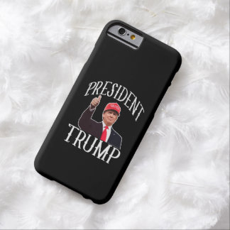 Coque Barely There iPhone 6 Le Président Donald Trump Red Hat manie