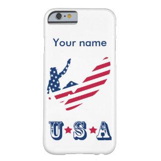 Coque Barely There iPhone 6 Les Etats-Unis surfant le surfer américain