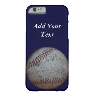 Coque Barely There iPhone 6 Les fans de base-ball ont personnalisé le bleu