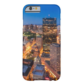 Coque Barely There iPhone 6 L'horizon de Boston au crépuscule