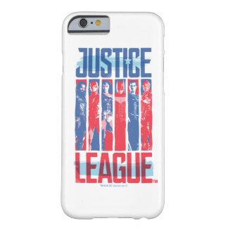 Coque Barely There iPhone 6 Ligue de justice art bleu et rouge de | de groupe