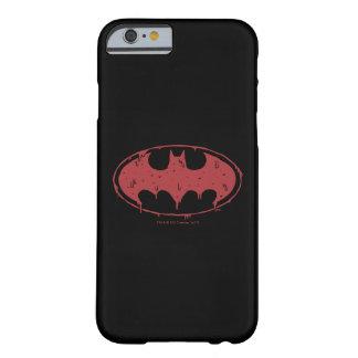 Coque Barely There iPhone 6 Logo de suintement de batte rouge de Batman |