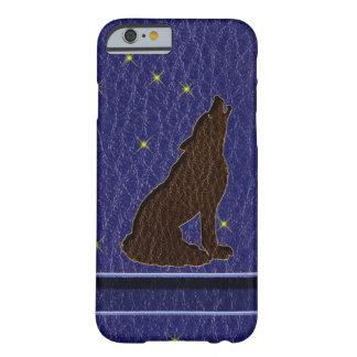 Coque Barely There iPhone 6 Loup simili cuir de zodiaque de Natif américain