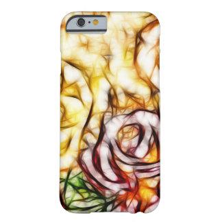 Coque Barely There iPhone 6 Lueur florale artistique de rose abstrait de
