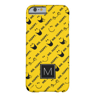 Coque Barely There iPhone 6 M. Happy | tout le monogramme du motif | de