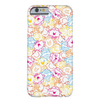 Coque Barely There iPhone 6 M. Men et petit motif de couleurs de néon de la