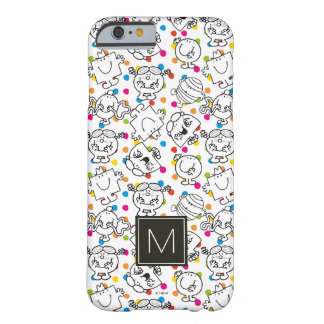 Coque Barely There iPhone 6 M. Men et petit motif de pois d'arc-en-ciel de la