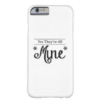 Coque Barely There iPhone 6 Maman drôle oui toute la vie de maman de mine