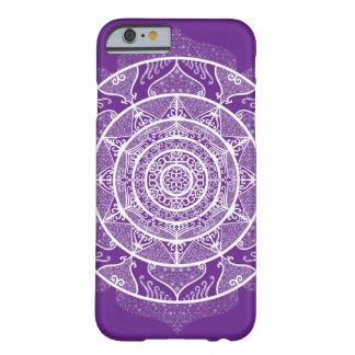 Coque Barely There iPhone 6 Mandala d'aubergine