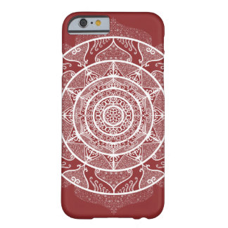 Coque Barely There iPhone 6 Mandala de canneberge