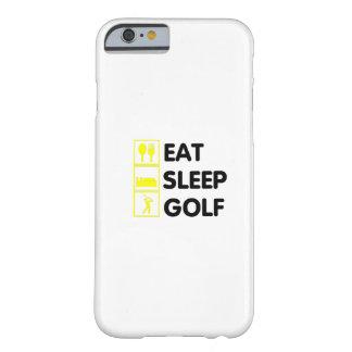Coque Barely There iPhone 6 Mangez le grand-papa jouant au golf drôle de papa