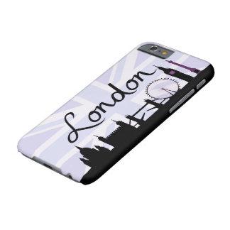 Coque Barely There iPhone 6 Manuscrit de Londres sur le ciel d'Union Jack et