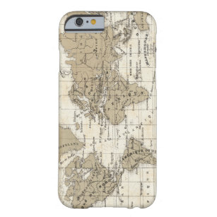 Coque Barely There iPhone 6 Mappemonde