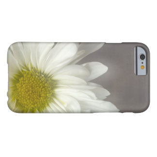 Coque Barely There iPhone 6 Marguerite blanche molle sur le gris