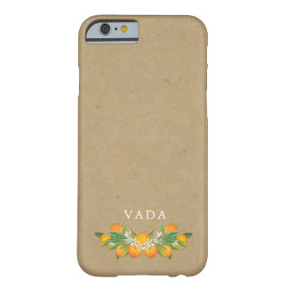 Coque Barely There iPhone 6 Monogramme d'oranges de pays