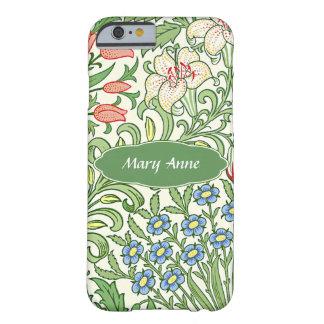 Coque Barely There iPhone 6 Monogramme personnalisé par motif floral de jardin