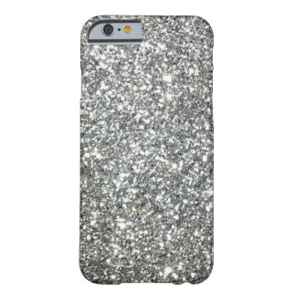 "Coque Barely There iPhone 6 Motif ""argenté"" noir et blanc de granit"