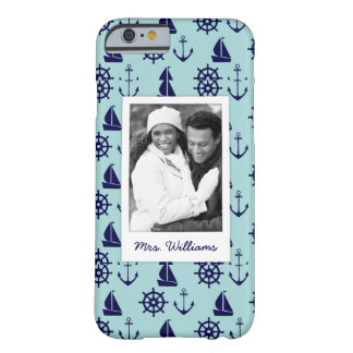 Coque Barely There iPhone 6 Motif | de bord de la mer votre photo et nom