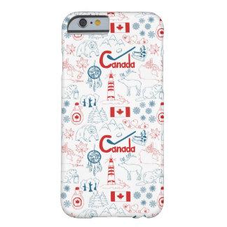 Coque Barely There iPhone 6 Motif de symboles du Canada  