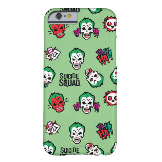 Coque Barely There iPhone 6 Motif d'Emoji de joker du peloton | de suicide