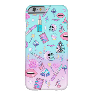 Coque Barely There iPhone 6 Motif en pastel Girly de Goth de sorcière