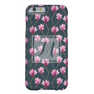 Coque Barely There iPhone 6 Motif floral d'aquarelle de magnolia