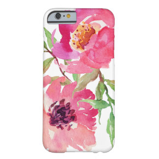 Coque Barely There iPhone 6 Motif floral d'aquarelle rose Girly