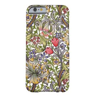 Coque Barely There iPhone 6 Motif floral vintage William Morris de lis d'or