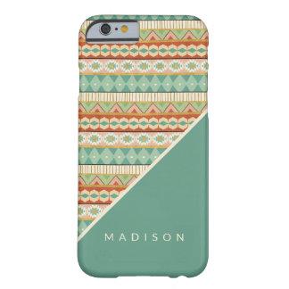 Coque Barely There iPhone 6 Motif tribal d'aquarelle d'étape | de Geo de