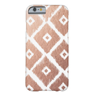 Coque Barely There iPhone 6 Motif tribal de feuille d'or rose de Faux