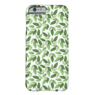 Coque Barely There iPhone 6 Motif vert de feuille de personnaliser