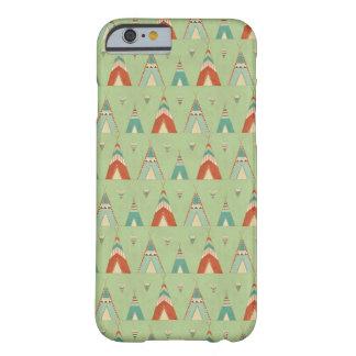 Coque Barely There iPhone 6 Motif vert de Teepee d'étape | de Geo de sud-ouest