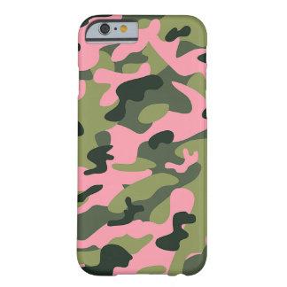 Coque Barely There iPhone 6 Motif vert rose de camouflage de Camo d'armée de