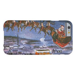 Coque Barely There iPhone 6 Noël vintage le père noël pilotant son Sleigh