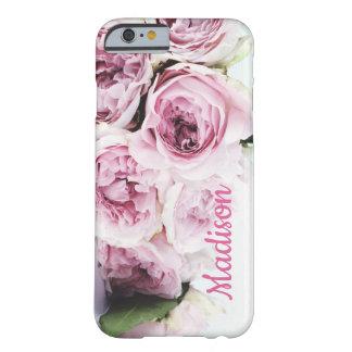 Coque Barely There iPhone 6 Nom de bouquet de roses de rose romantique,
