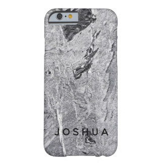 Coque Barely There iPhone 6 Nom en pierre de marbre de coutume de