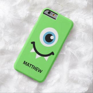 Coque Barely There iPhone 6 Nom personnalisé par monstre vert