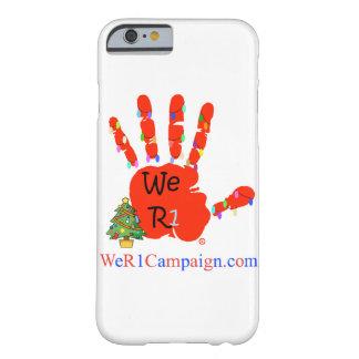 Coque Barely There iPhone 6 Nous cas de téléphone de main de Noël R1