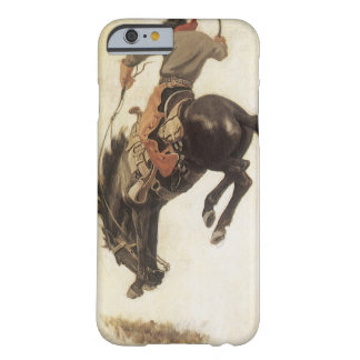 Coque Barely There iPhone 6 Occidental vintage, cowboy sur un cheval